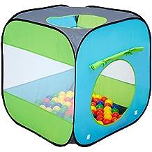 LittleTom Tienda de campaña Juguete para niños 70x70x72cm Piscina de Bolas Azul