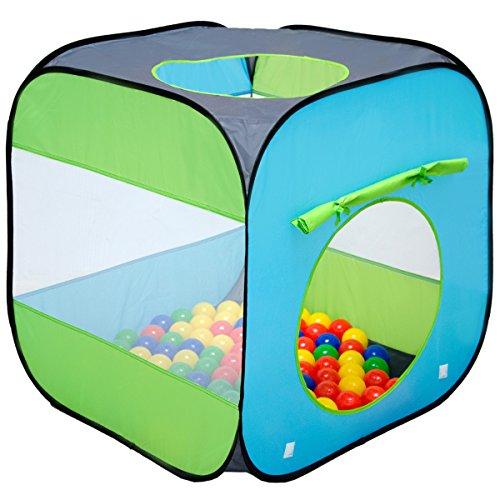 Spielzelt 70x70x72 cm Popup Baby Spielhaus Kinder-Zelt Blau ()