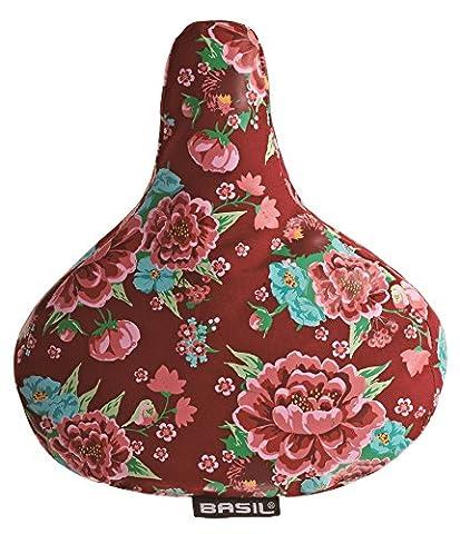 Basil 50329 Sattelüberzug mit Blumenmotiv Scarlet