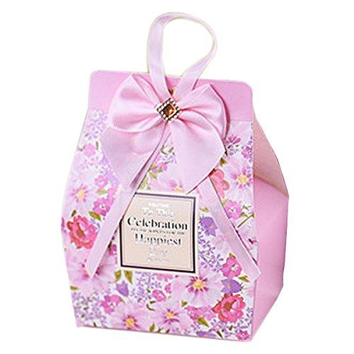 große personalisierte Hochzeit Gunsten Boxen Hochzeit süße Kästen einzigartige Gunst rosa Boxen liefert für 20pcs (Bonbons oder Schokolade nicht enthalten)