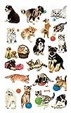 Avery Zweckform 53487 Kinder Sticker, Hunde Katzen, 63 Aufkleber