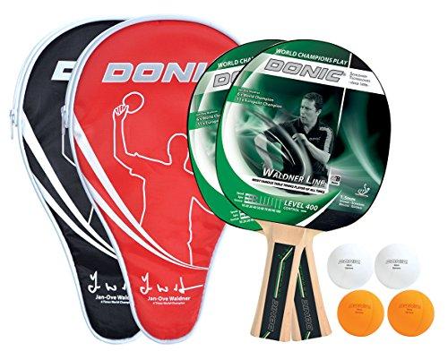 Donic-Schildkröt Tischtennis-Set Champs Line 400, 2 Schläger, 4 Bälle in guter 1* Qualität, 2 Schlägerhüllen, im Blister, tolle Freizeitqualität, umfangreiche Ausstattung für 2 Spieler, 788498