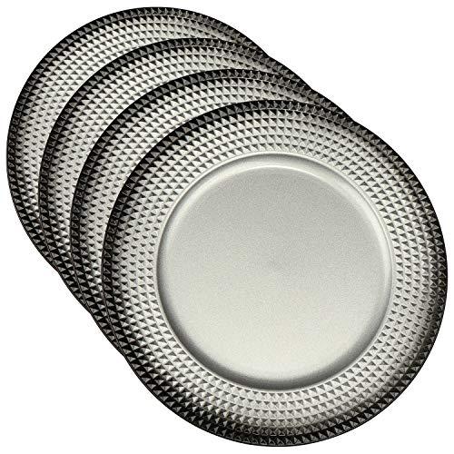 COM-FOUR® 4x Placa colocación plástico color plata