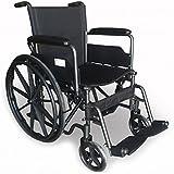 Modelo S220 | silla de ruedas de acero plegable con asiento de 46 cm | Ruedas