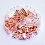 ZN-office supplies Mini-Faltmappe aus Metall/Büroklammer / Reißzwecken, geeignet für Fotos, Lebensmitteltaschen, multifunktionale Wohnküche, Büroklammern