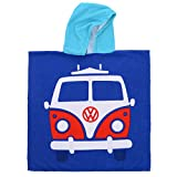 Volkswagen Boy VW Beach Poncho Towel, Blue, One Size