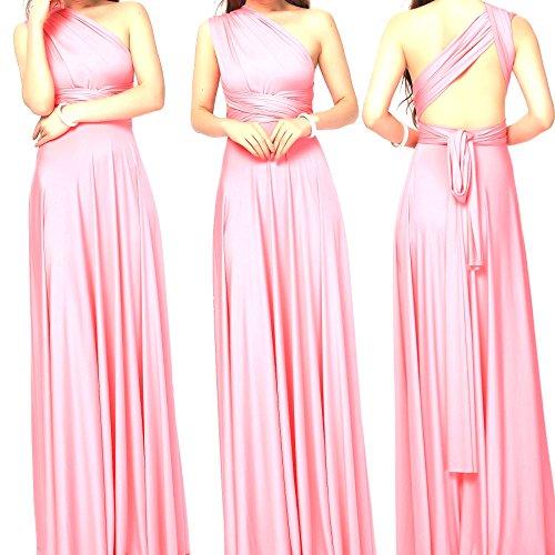 Infinity Kleid, Ballkleid, Brautjungfernkleid, Gr. 34-42 rosa/rosé, lachs, Wickelkleid lang, 70...