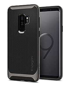 Spigen Neo Hybrid Samsung Galaxy S9 Plus Hülle (593CS22943) Zweiteilig Silikon TPU Schale mit PC Bumper Schutzhülle Case (Gunmetal)