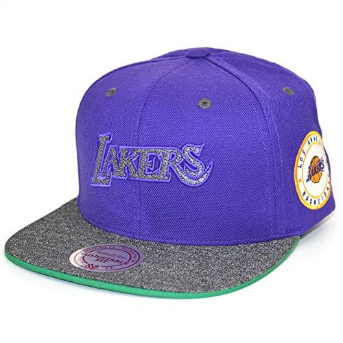 Mitchell & Ness Herren Snapback Caps HWC LA Lakers Melange Patch Violet Verstellbar (Lakers Beanie)