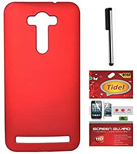 Tidel Red Back Cover For Zenfone 2 Laser 5.5 With Screen Guard & Stylus