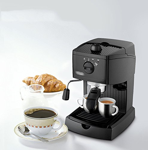 GCCI Italian Semi – Automatic Coffee Machine Household Commercial Steam Milk Bubble,Black