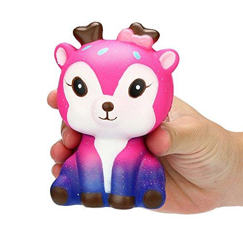 Ostern 's beste Spielzeug Geschenk !!! Beisoug Kawaii Cartoon Galaxy Deer Squishy langsam steigende Creme duftenden Stressabbau Spielzeug