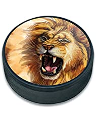 Puck de hockey sur glace animaux, Lion Roar Big Cat Safari