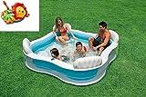 Relaxen im eigenen Garten / Swim-Center Family Lounge Pool mit Sitzbank / ca. 229 x 229 x 66 cm / 4...