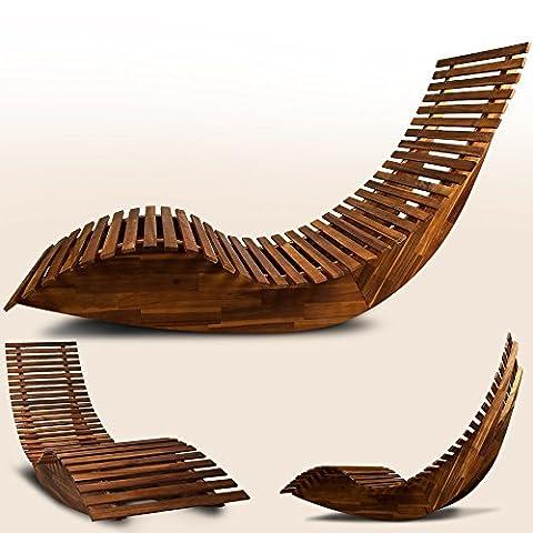 Chaise longue à bascule en bois - Transat ergonomique -