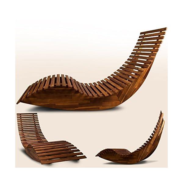 Deuba Schwungliege Fsc Zertifiziertes Akazienholz Ergonomisch Vormontierte Latten Wippfunktion Gartenliege Sonnenliege Relaxliege