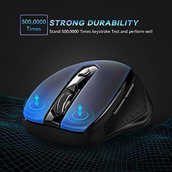 Victsing Mini Schnurlos Maus Wireless Mouse 2.4g 2400 Dpi 6 Tasten Optische Mäuse Mit Usb Nano Empfänger Für Pc Laptop Imac Macbook Microsoft Pro, Office Home 9
