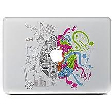 Sticker Adhesivos Macbook, Stillshine Desprendibles Creativo Colorido Art Calcomanía Pegatina para Apple MacBook Pro / Air 13 Pulgadas (Cerebro Creativo)