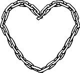 1 x 2 Plott Aufkleber Kettenherz Herz Kette Liebe Love Freundschaft Sticker Bund