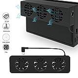 VOIMAKAS Nintendo Switch Dock Lüfter Externer Ventilator Kühler, USB Cooling Fan Kühlgebläse Luftzirkulation Kühlung für NS-Dockingstation, Schwarz