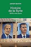 Histoire de la Syrie - 1918 à nos jours