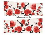 ACNails-Nagel Sticker Wasser Transfer Sticker Nailart Nagel Tattoos Nagelaufkleber Blumen Motive Full Cover - STZ148