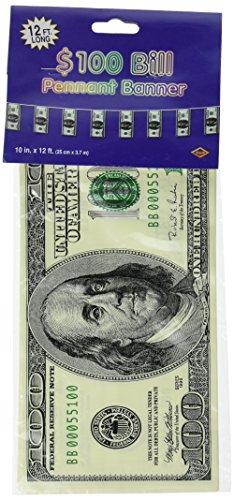 Girlande 100-Dollar-Scheine 370 cm (100-dollar-scheine)