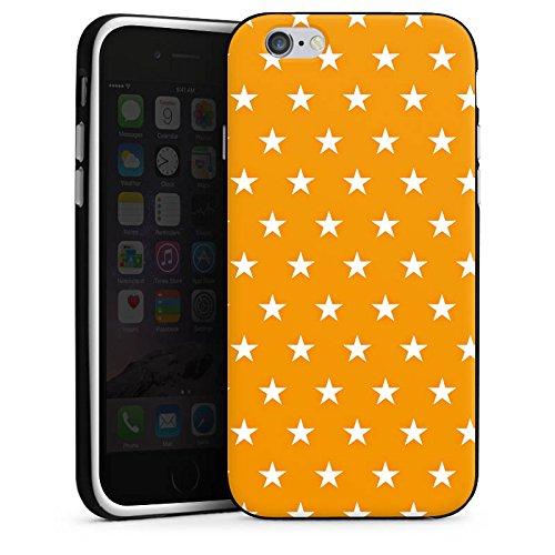 Apple iPhone 5 Housse Outdoor Étui militaire Coque Étoiles Orange Motif Housse en silicone noir / blanc
