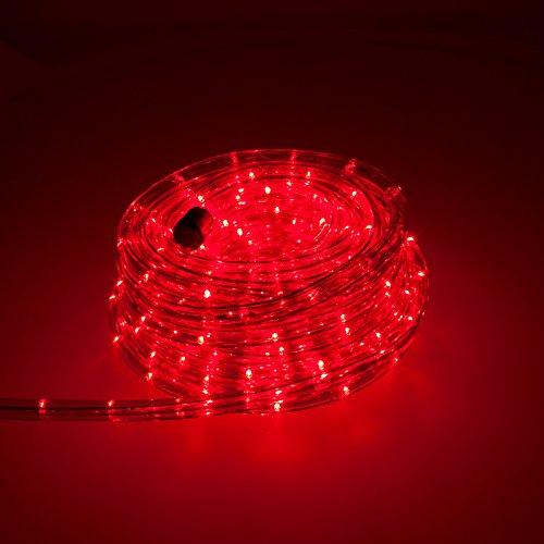 Smartfox LED Lichterschlauch Lichterkette Licht Schlauch 10m für Innen- und Aussenbereich mit 240 LEDs in Rot