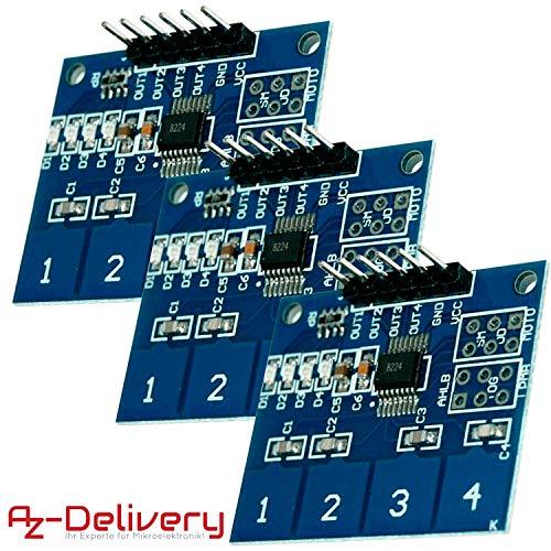 AZDelivery ⭐⭐⭐⭐⭐ 3 x TTP224 Panel Capacitivo