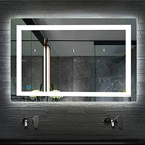 Baño Vanity Led Espejo de baño Inteligente con luz Colgante de Pared Baño antiniebla montado en la Pared Espejo de...