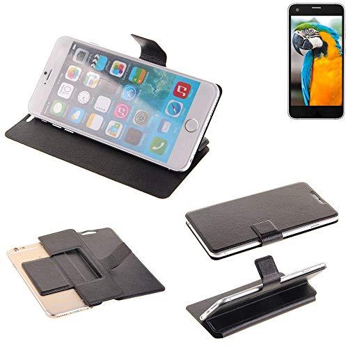 K-S-Trade Schutz Hülle für Vestel V3 5040 Schutzhülle Flip Cover Handy Wallet Case Slim Handyhülle bookstyle schwarz