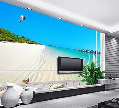 Los fondos de pantalla en 3D se ven muy reales, no solo para proteger sus paredes, sino también para traer diferentes colores a su habitación.  Espacio aplicable: sala de estar, casa antigua, entrada, sala de bodas, techo, cocina, dormitorio, sala in...