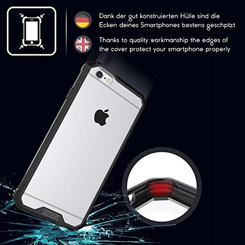 URCOVER Coque Armor Case TPU Housse Protection pour   Apple iPhone 6 Plus / 6s Plus   TPU Souple et Bumper Antichoc en Transparent Noir