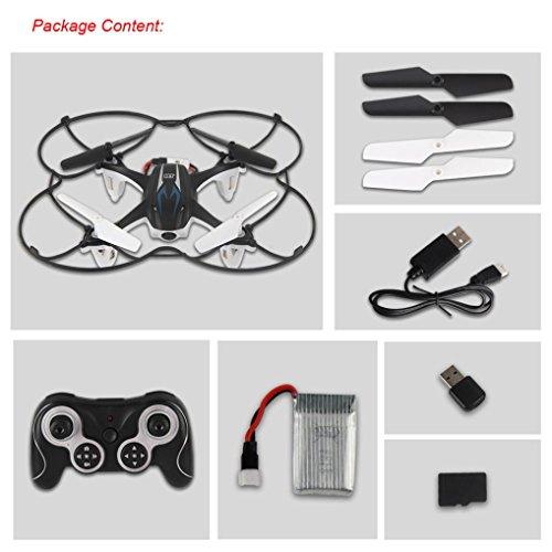 Lacaca M9916 2.4GHz 4CH 6-Axis Gyro Senza Testa RC Quadcopter Con Videocamera HD, 360 Gradi 3D Rotolamento Modalità RC Drone (Nero)