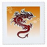 3drose QS _ 62464_ 2Asiatische Dark Red Dragon auf