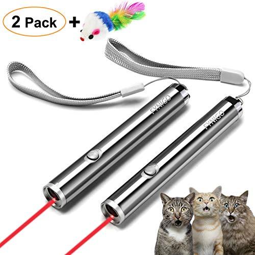 FYNIGO Katzenspielzeug Elektrisch,Interaktives Lichtspielzeug für Katzen und Hunde(2 Pack)
