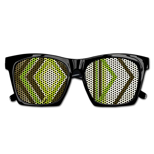 EELKKO Mesh Sunglasses Sports Polarized, Geometric Trippy Diamond Shape Bands In Different Shade Illustration,Fun Props Party Favors Gift Unisex