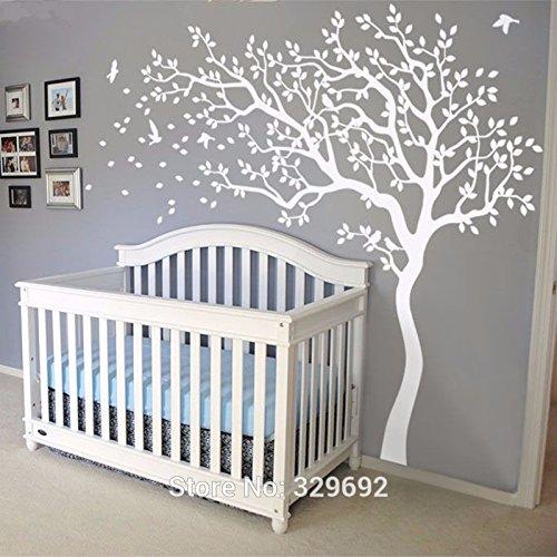 Preisvergleich Produktbild 2016 Heiße riesige weiße Baum wand aufkleber sticker wandtattoos kinderzimmer Tree Wall Sticker für Kinder Zimmer 213x210cm wand tattoo Geschenk