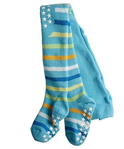 Falke Unisex - Baby Strumpfhose Multi Stripe, Gestreift, Gr. 62 (Herstellergröße: 62-68), Blau (Oriental Blue 6652) (Multi-stripe-strumpfhose)