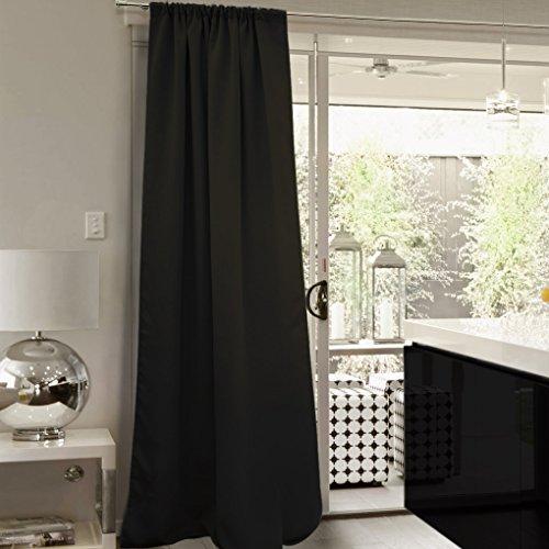 Victoria m aurora tende oscuranti con fettuccia arricciatenda 140 x 245 cm, nero