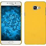 Coque Rigide pour Samsung Galaxy A3 (2016) A310 - gommée jaune - Cover PhoneNatic Cubierta + films de protection