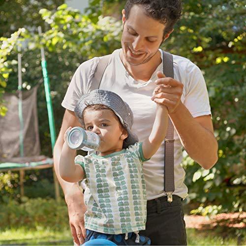 NUK Learner Cup Trinklernbecher, auslaufsicher, hochwertiger Edelstahl, langlebig und hygienisch, 125ml, 6-18 Monate, Rosa (Girl) - 7