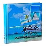 WELLGRO® Jumbo Fotoalbum BEACHES - für bis zu 400 Fotos 10x15 - 30 x 30 cm (HxB) - 100 Seiten , Motive:Flugzeug