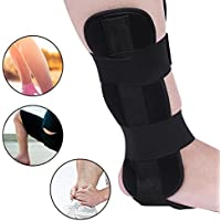 Ortesis de tobillo de pie transpirable Protección de soporte de tobillo Protección de soporte Esguince férula Artritis recuperación(L)