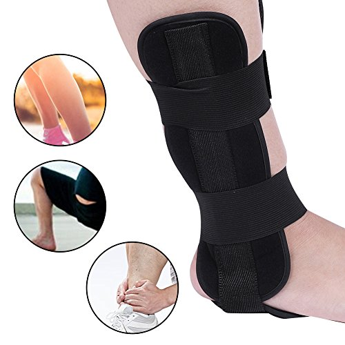 Nachtschiene zur Behandlung von Plantarfasziitis, Einstellbare Drop Fuß-Orthese Knöchel Gelenk Bandage, Schmerzlinderung Plantarfasziitis Stabilisierungsstäben Orthotics Corrector Tag und Nacht Fuß(M)