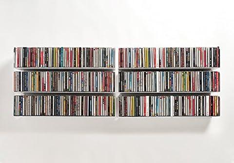 Etagères range CD/DVD TEEbooks - lot de 6 UCD -
