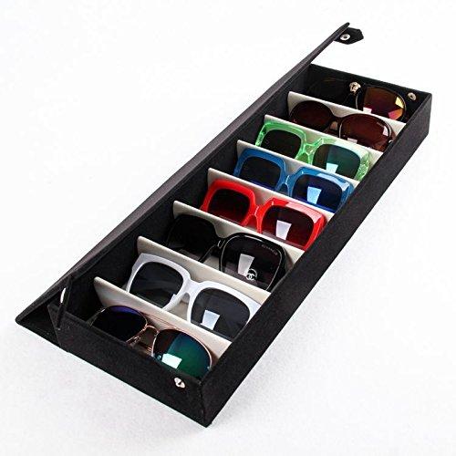 46fc95d4b5 Ducomi® Elton - Organizador - Caja para gafas con 8 compartimentos.  Organiza tus gafas