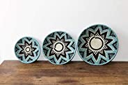 African wall baskets, Woven banana bowls, Rwanda baskets, Wall decor, Patterned bowls, Fruit bowls, Tribal bas
