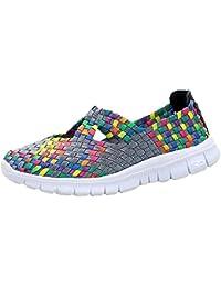 Zapatos de senderismo deporte,Sonnena,Zapatos de mujer de moda Zapatos transpirables tejidos Zapatos para correr Casuals